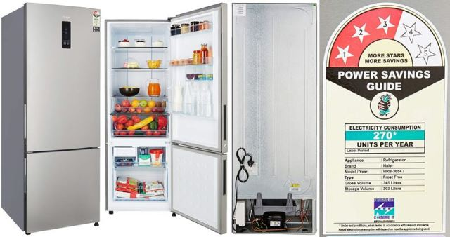 345-Liter Haier Frost-Free Double Door Refrigerator HRB-3654PSS