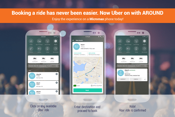 Now Book Uber on Micromax Smartphone With One touch