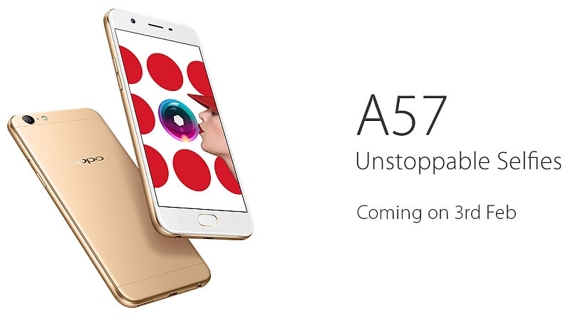 OPPO A57 Mid-Ranger, Selfie Focused Smartphone to Launch on 3rd FEB, Price Revealed