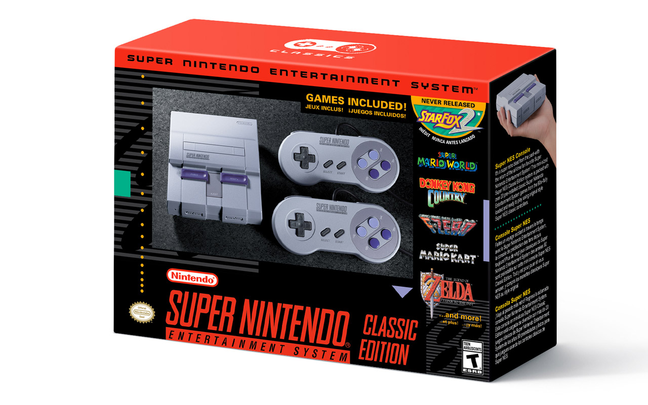 Nintendo Announces SNES Classic Edition, Coming on Sept. 29th
