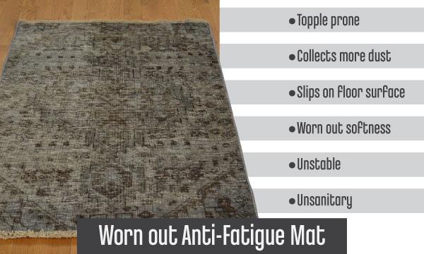 Worn Out Anti Fatigue Mat