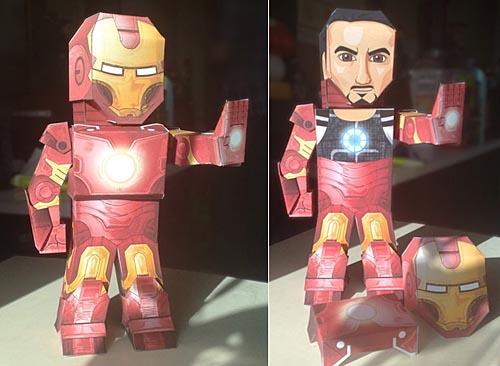 Make Your Own Iron Man 2 Paper Figures Gadgetsin