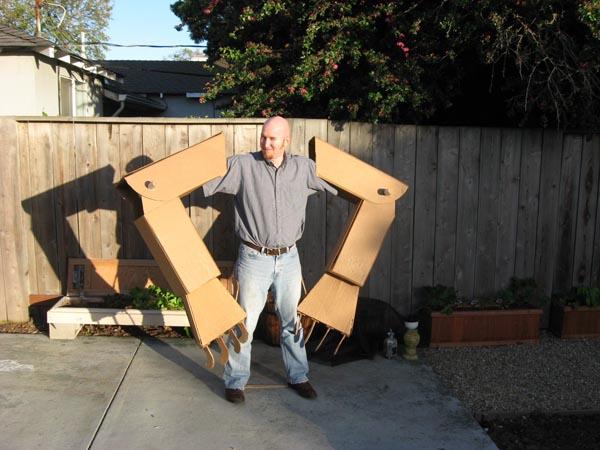 Amazing Giant Cardboard Robot Costume