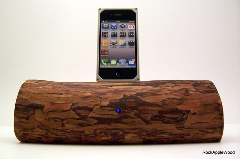 Handmade Wooden IPhone Dock Speaker Gadgetsin
