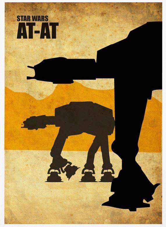 Star Wars Vintage Poster Set Gadgetsin