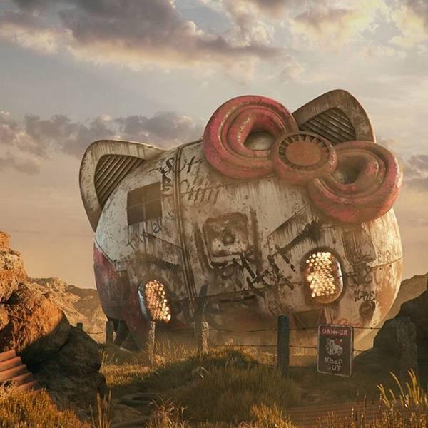 The Post Apocalyptic 3D Pop Culture Sculptures Created By Flip Hodas Gadgetsin