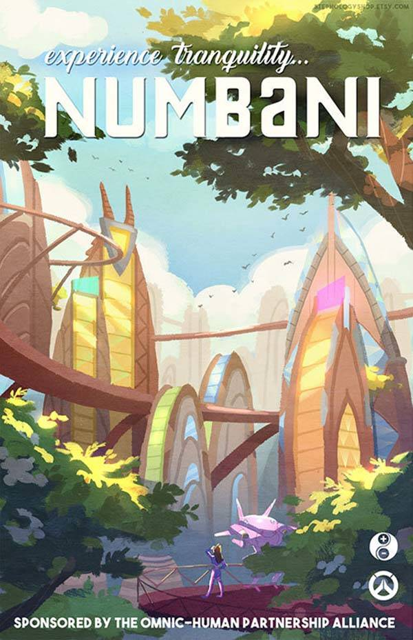 The Travel Overwatch Poster Set Highlights Those Iconic Locations From The Game Gadgetsin