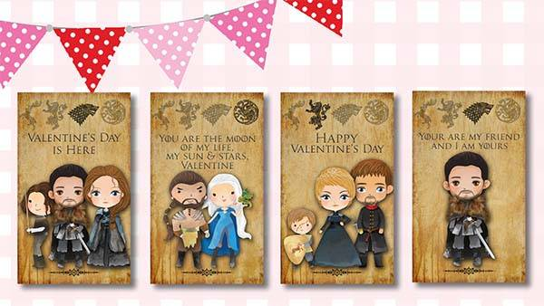 Game Of Thrones Valentines Day Cards Gadgetsin
