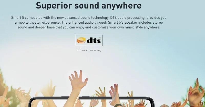 Infinix Smart 5 Superior quality sound