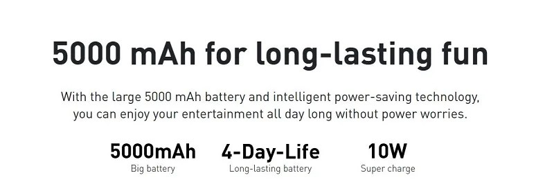 Powerful 5000mAh Battery