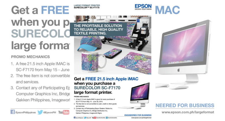 Buy an Epson textile printer, get a free Apple iMac | Gadgets Magazine