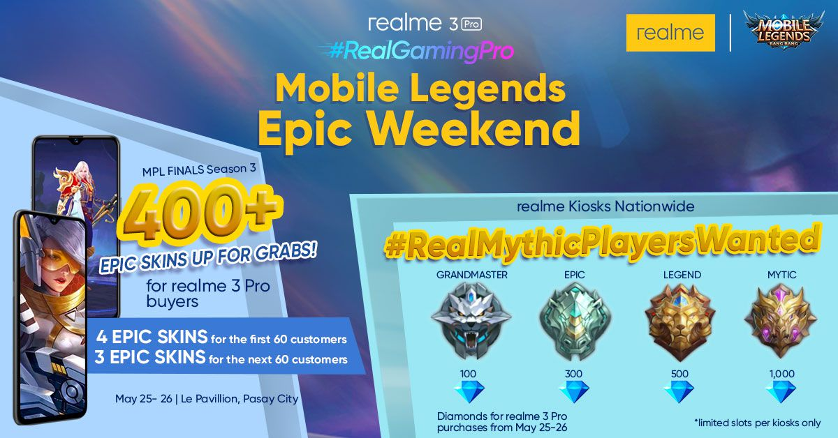 Realme Philippines launches Mobile Legends Epic Weekend