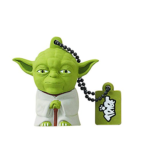 Tribe-Star-Wars-FD007504-16-Go-Cl-USB-Flash-Drive-20-Porte-Cls-Yoda-Vert-0
