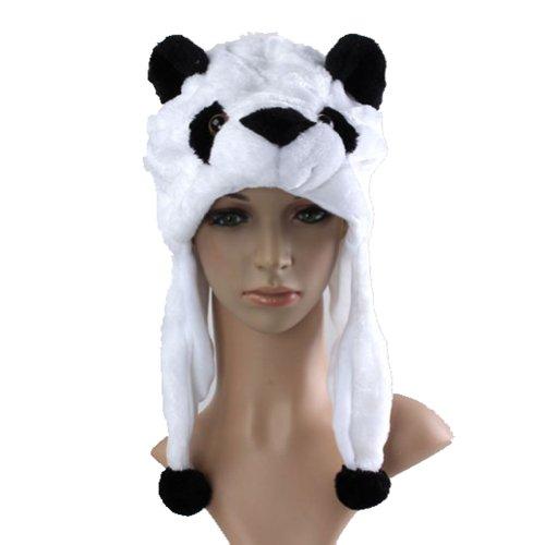 BonnetChapeau-Ski-Peluche-Animaux-Adulte-Enfant-1830CM-AutomneHiver-Dguisement-11-Blanc-Panda-0