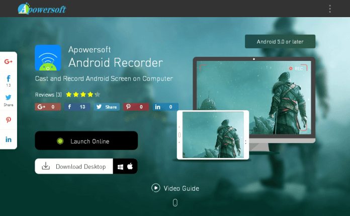 Apowersoft Android Recorder Best Android Emulators for PUBG