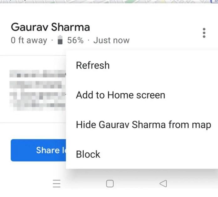 refresh realtime location