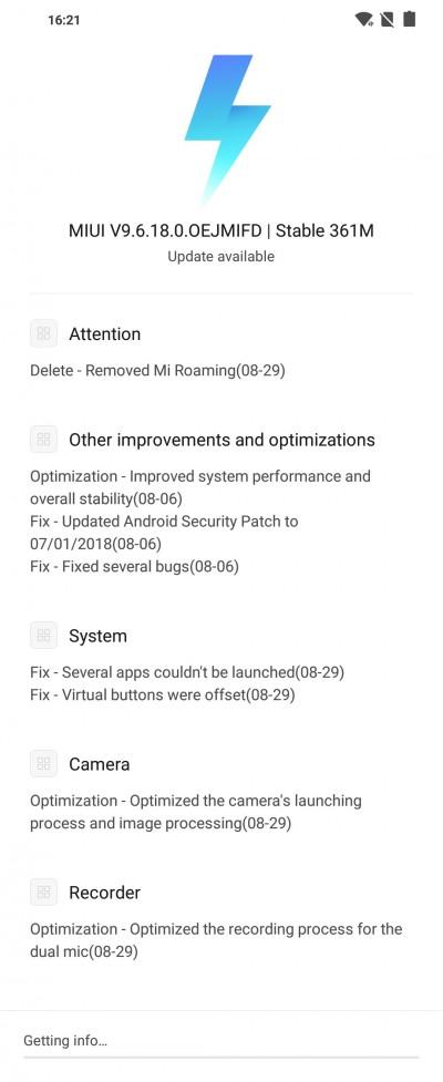 Download MIUI V9 6 24 0 OEJMIFD for Poco F1 - Brings major