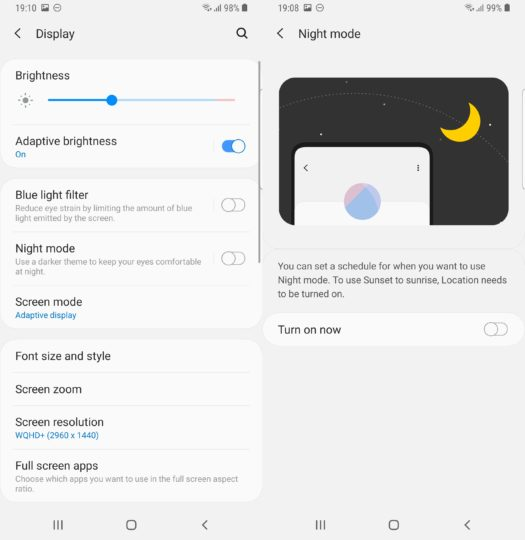 How to enable dark mode on Samsung Android Pie One UI