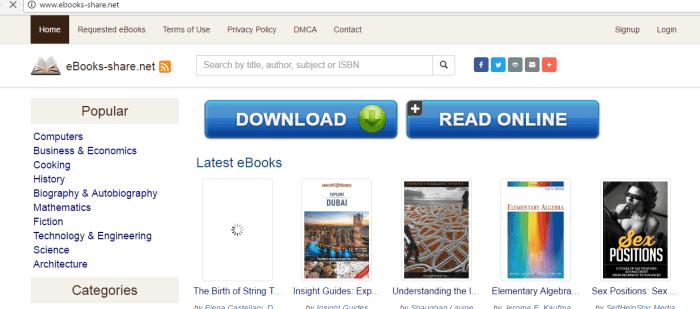 eBookshare torrent site