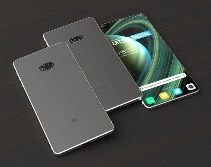 An innovative solution on the render image of the Xiaomi smartphone