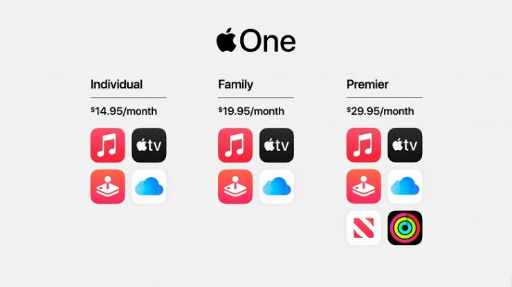 For true Apple fans. Apple One service includes all major subscriptions of the company