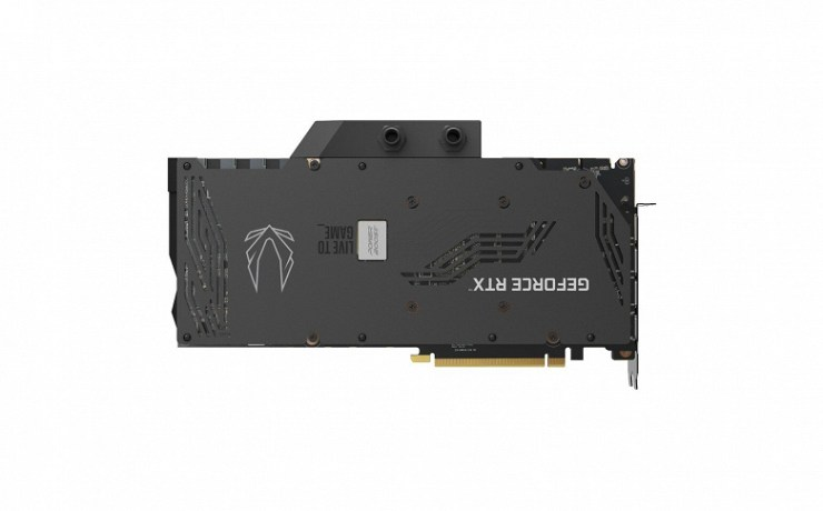 Zotac Gaming GeForce RTX 3090 ArcticStorm graphics card equipped with waterblock