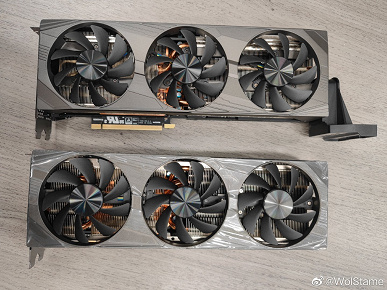 With bulky cooling systems and only three fans.  Images of non-reference GeForce RTX 3080 Ti from Colorful, Zotac and Lenovo