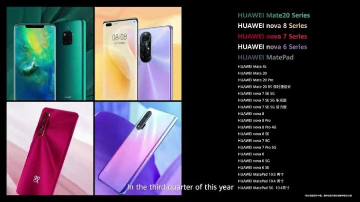 Over 100 Huawei devices will migrate from Android to HarmonyOS.  What and when?