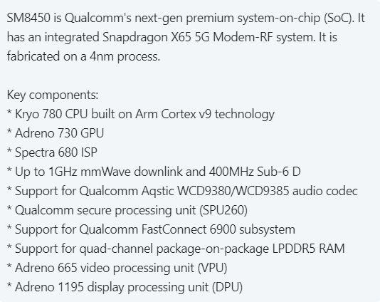 This platform Qualcomm will receive the Samsung Galaxy S22.  Details of the new top-end SoC Snapdragon revealed