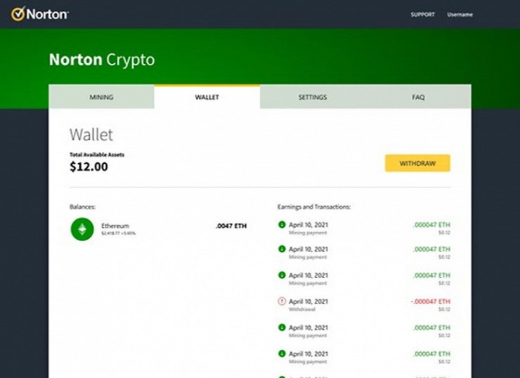 Antivirus Norton 360 will soon be able to mine your cryptocurrency