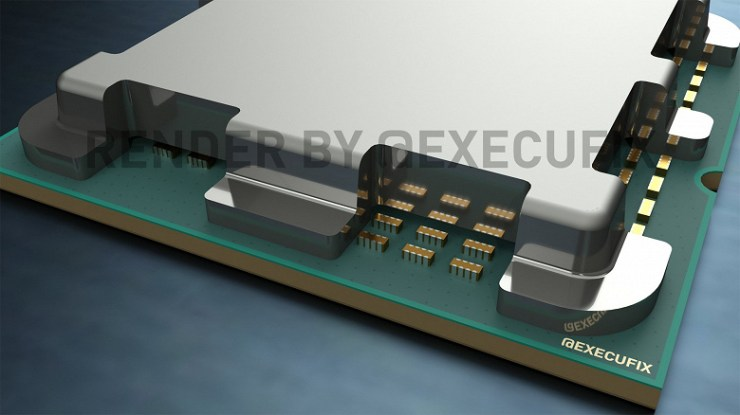 The new images show where the elements from the bottom have migrated in AMD processors in the AM5 version.