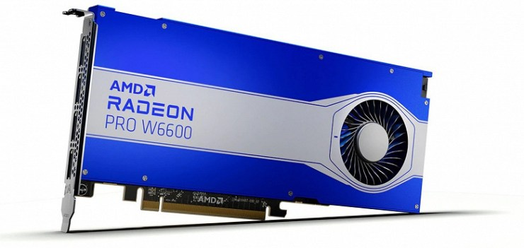 Introduced AMD 3D card with 32GB of memory and priced at $ 2,250.  Radeon Pro W6000 lineup announced