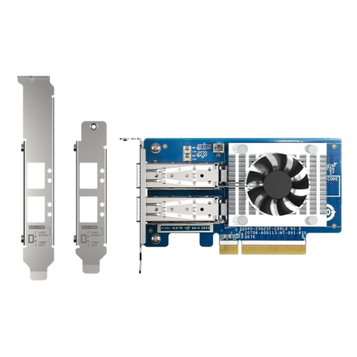 Qnap expansion card QXG-25G2SF-CX6 adds two 25GbE ports to the system configuration