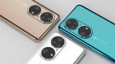 The unconditional flagship powered by HarmonyOS 2.0 and with a Leica camera.  Huawei P50 Pro showed on high-quality renders