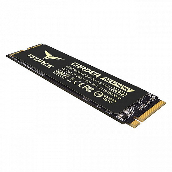 T-Force Cardea Z44Q solid state drive is equipped with PCIe 4.0 x4 interface