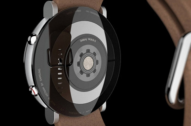 With round flat panel and slider key.  The designer showed the concept of smart watches Samsung Galaxy Watch5