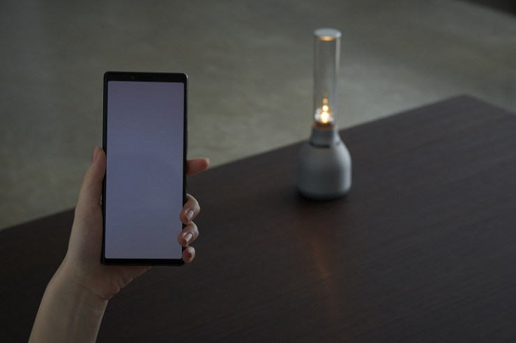 Warm tube sound: Sony unveils glass wireless speaker with candle mode