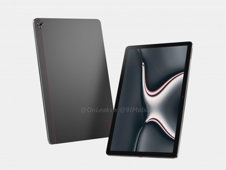It looks like a competitor Xiaomi Mi Pad 5. The first Realme tablet was shown on high-quality renders