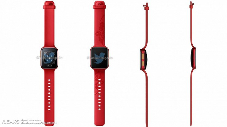 Built-in SIM card, 16 GB memory, heart rate and SpO2 monitoring, modern platform Snapdragon Wear 4100. Smart watches Oppo Watch 2 showed on renders and live photos