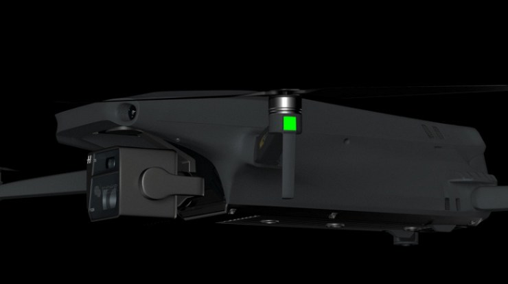 Hasselblad dual camera, 7x optical zoom, 6000mAh battery and new design.  Drone DJI Mavic 3 showed on renders