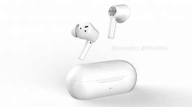 OnePlus Buds Z2 wireless headphones showed on renders.  They will be presented in October