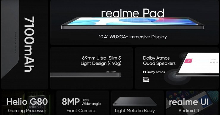 The first Realme tablet is presented - thin and cheap