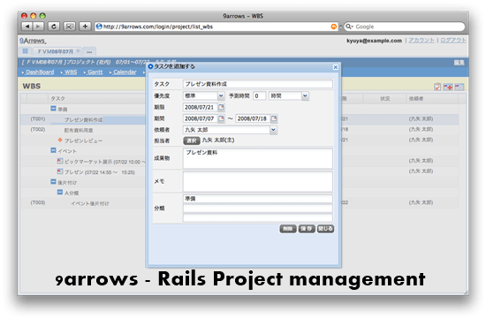 9Arrows rails project management : Top 15 Ruby on Rails based project management software