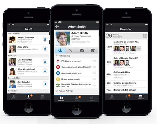 Address Book App for iPhone