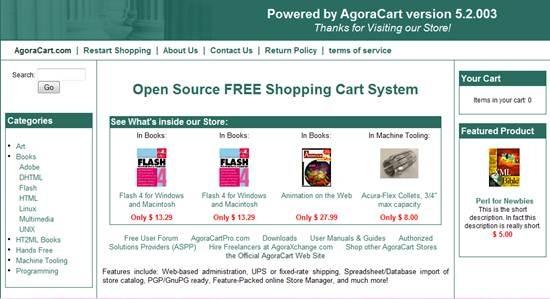 AgoraCart - Open Source ecommerce shopping cart