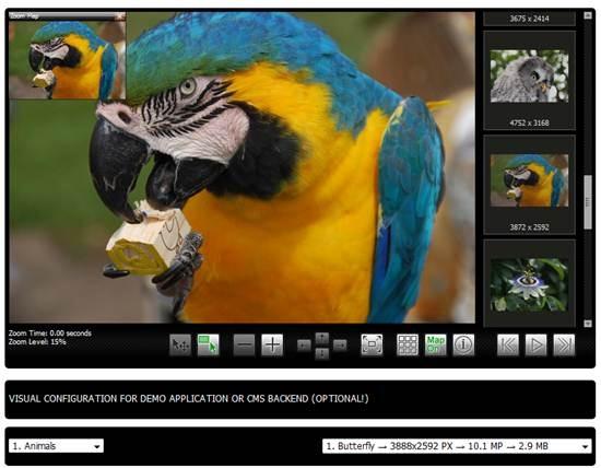 Ajax-Zoom - jQuery Image Zoom & Pan Gallery plugin