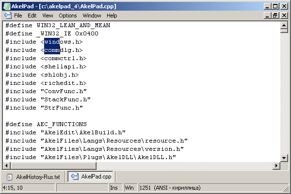 AkelPad text editor