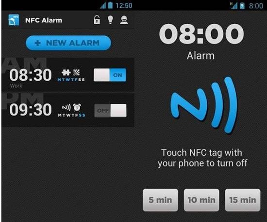 Alarm Clock NFC 7 Best Android NFC Apps