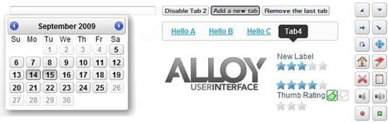 Alloy UI JavaScript UI framework