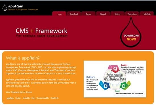 AppRain content management framework : 32 (Really) useful and Best